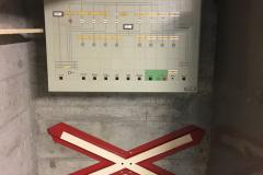 Tableau de commande pour les lignes de contact de la gare d'Yverdon