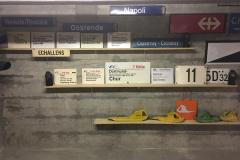 Plaques de destinations pour horloge des départs et plaques d'itinéraires