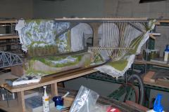 Une 2ème étape avec la plâtre à l'arrière du viaduc