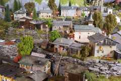 Vue du village grison