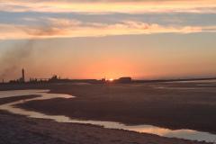 Coucher de soleil à Dunkerque