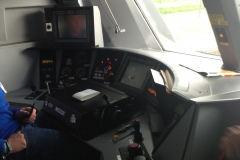 La cabine de la voiture-pilote