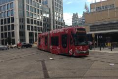 Tram près de la gare de Bruxelles-Midi