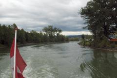 Embouchure du Canal de la Broye depuis le lac de Morat.